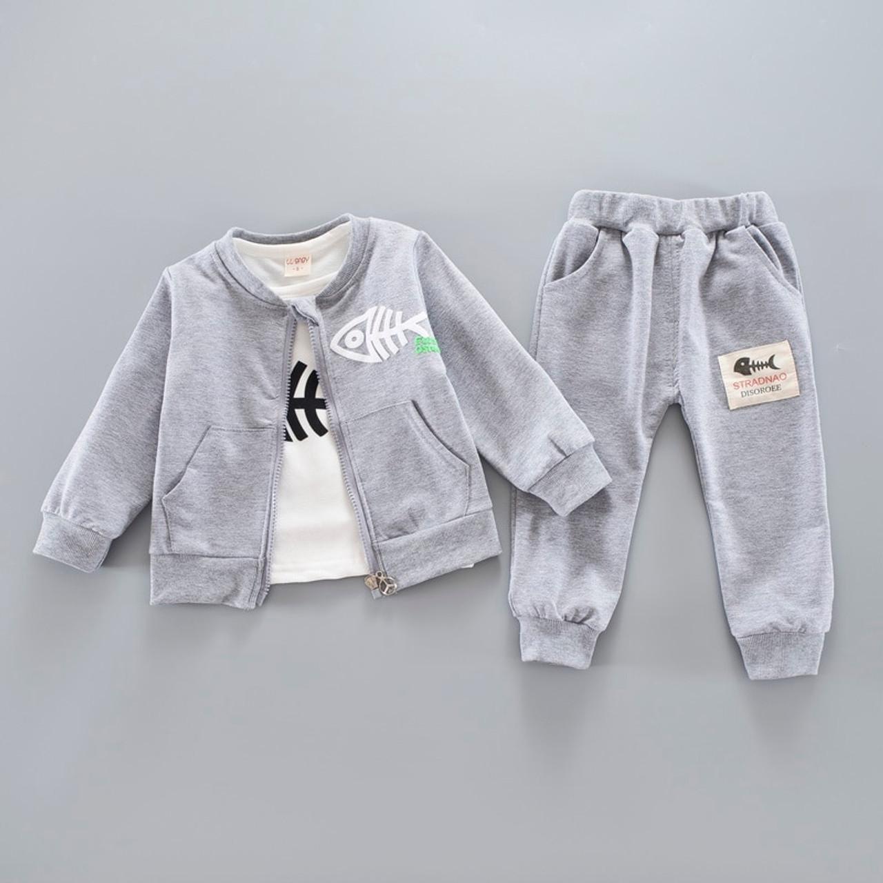 0d51d6c1c Bibicola baby boys clothing set toddler bebe coat jacket+ T shirt+ ...
