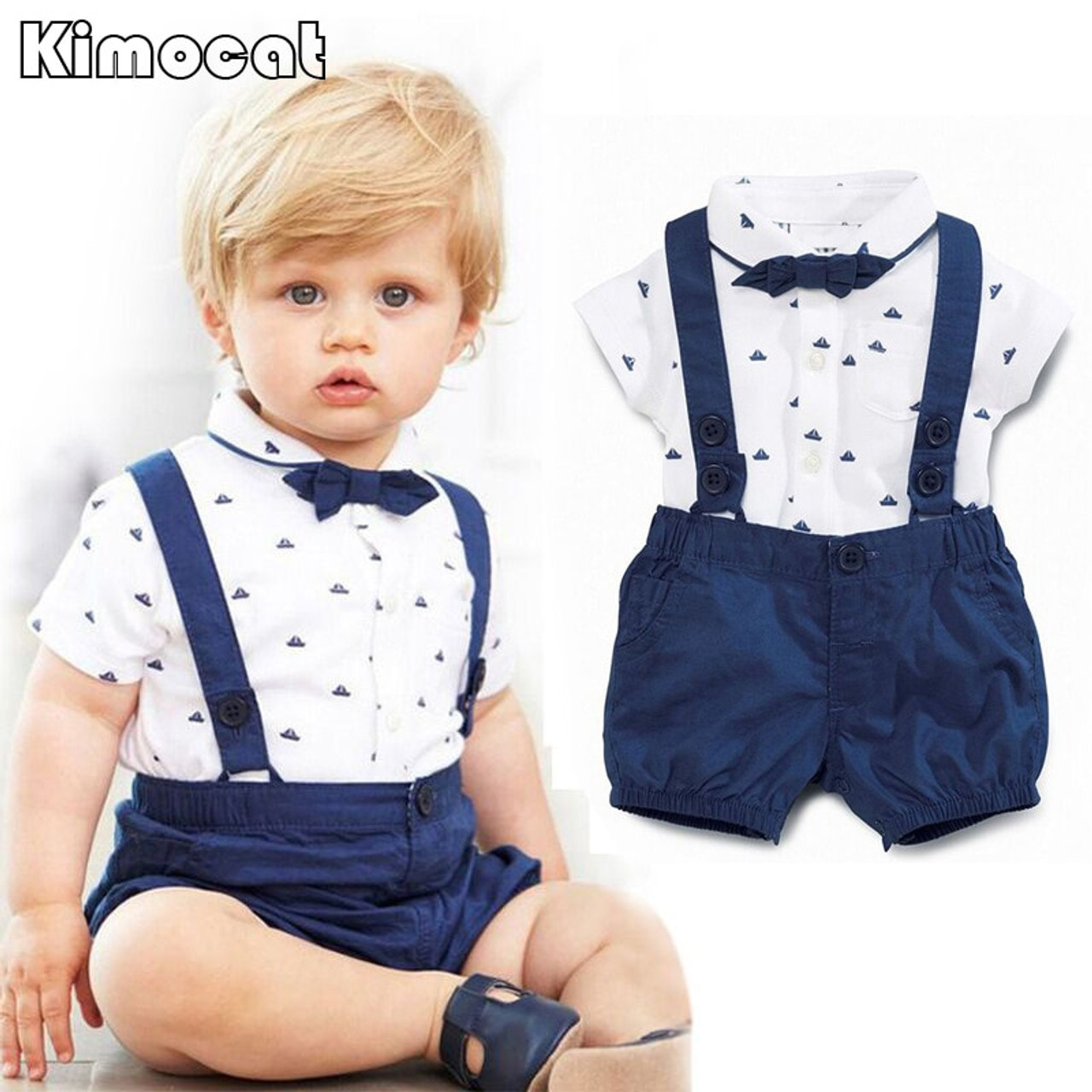 18bf170ca5925 Newborn Baby Boy Clothes Childrens Infant Clothing Sets Kids Baby Boy Suit  gentleman clothes T- ...