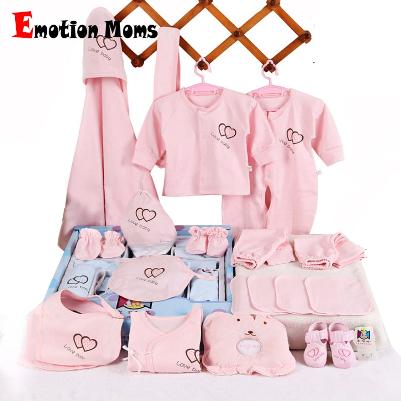 33b74782f3d1d Emotion Moms 22pieces Newborn baby girls Clothing 0-6months infants baby  clothes girl boys clothing ...