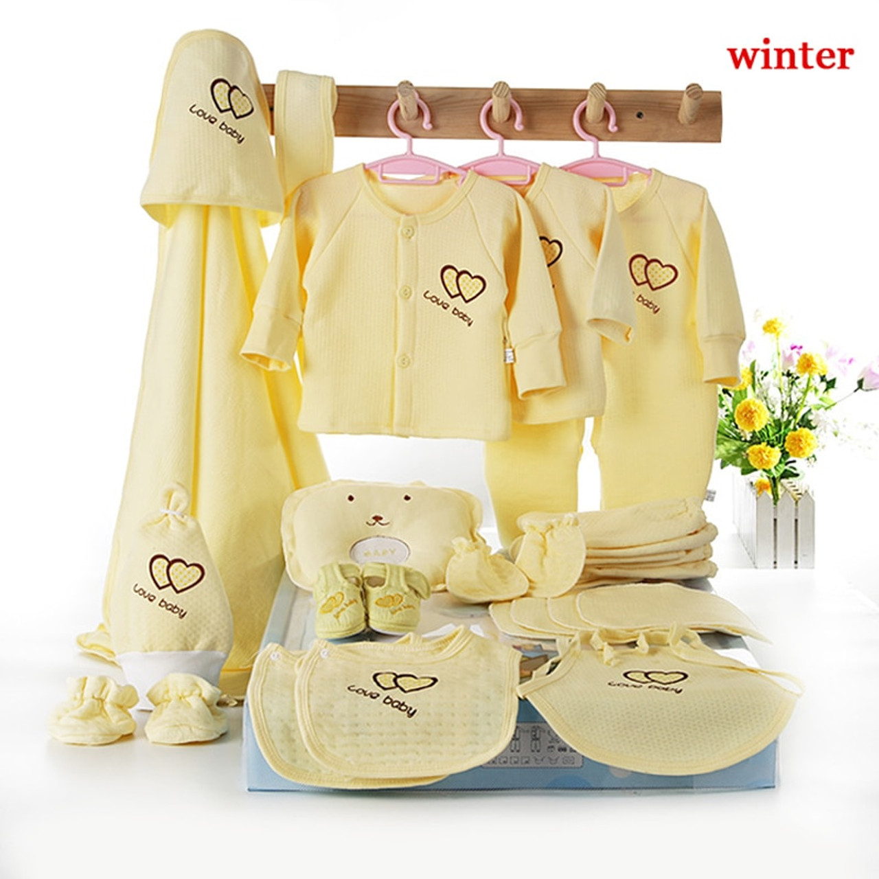 40e5f31de9c ... Emotion Moms 22pieces Newborn baby girls Clothing 0-6months infants  baby clothes girl boys clothing ...