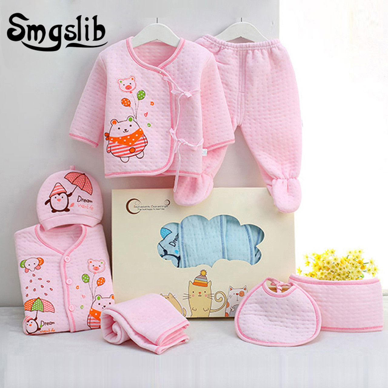 870a9fdc6 7pcs lot Baby girl Clothes infant newborn clothes 0 3 Months Toddler ...