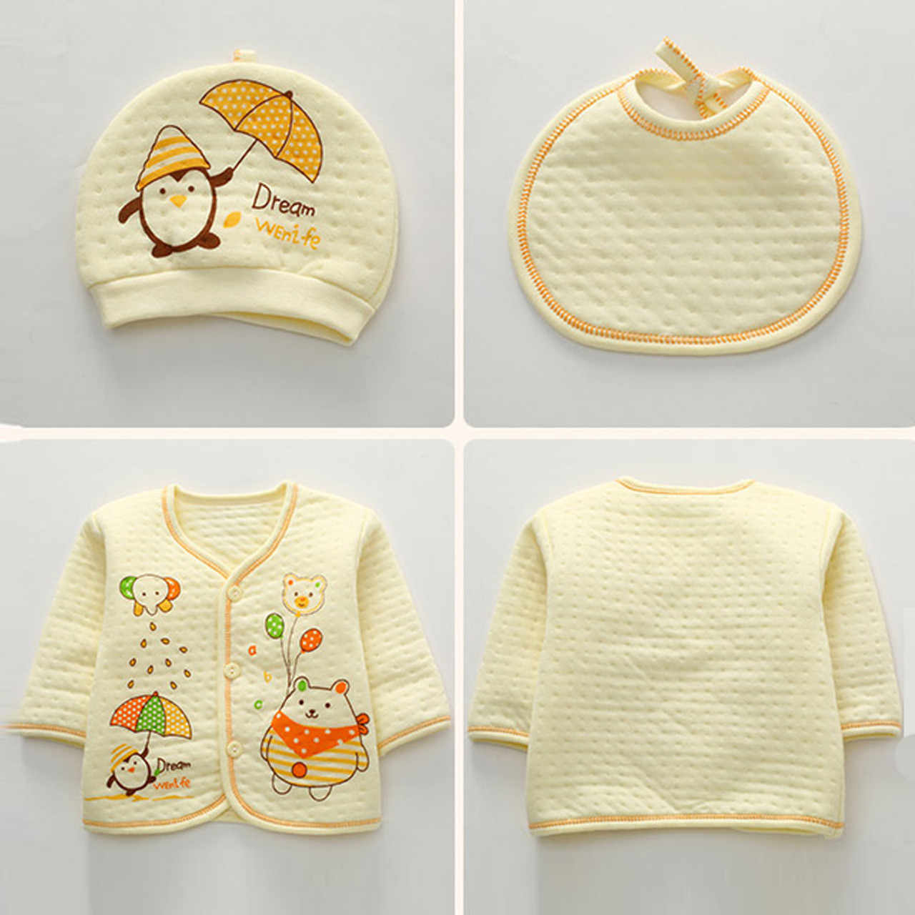 d003676fe ... 7pcs lot Baby girl Clothes infant newborn clothes 0 3 Months Toddler  girls hat top ...