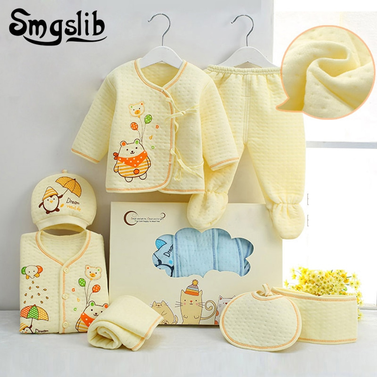 ba975927fed71 ... 7pcs/lot Baby girl Clothes infant newborn clothes 0 3 Months Toddler  girls hat top ...