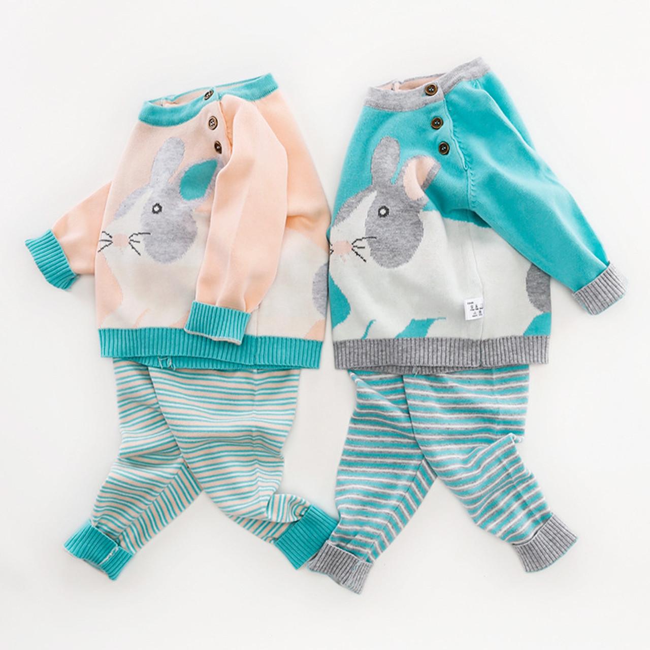 d6688c548 2Pcs Baby Cardigan Kids Sweaters Set Tiny Cotton Knit Sweters Sets ...