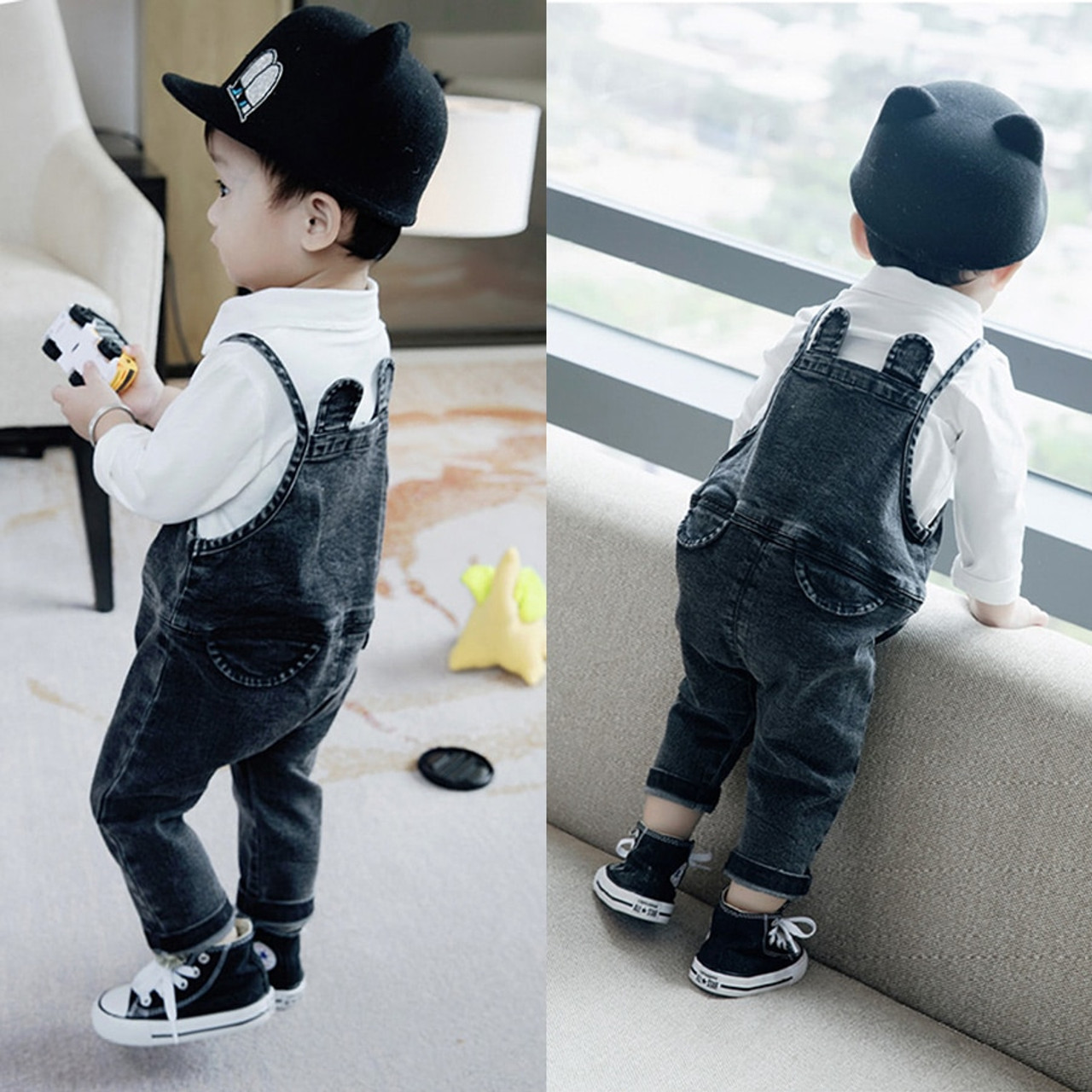 7dff9be3b Baby Boys Clothing Set White T shirt + Denim Pants Fashion Baby Boy ...