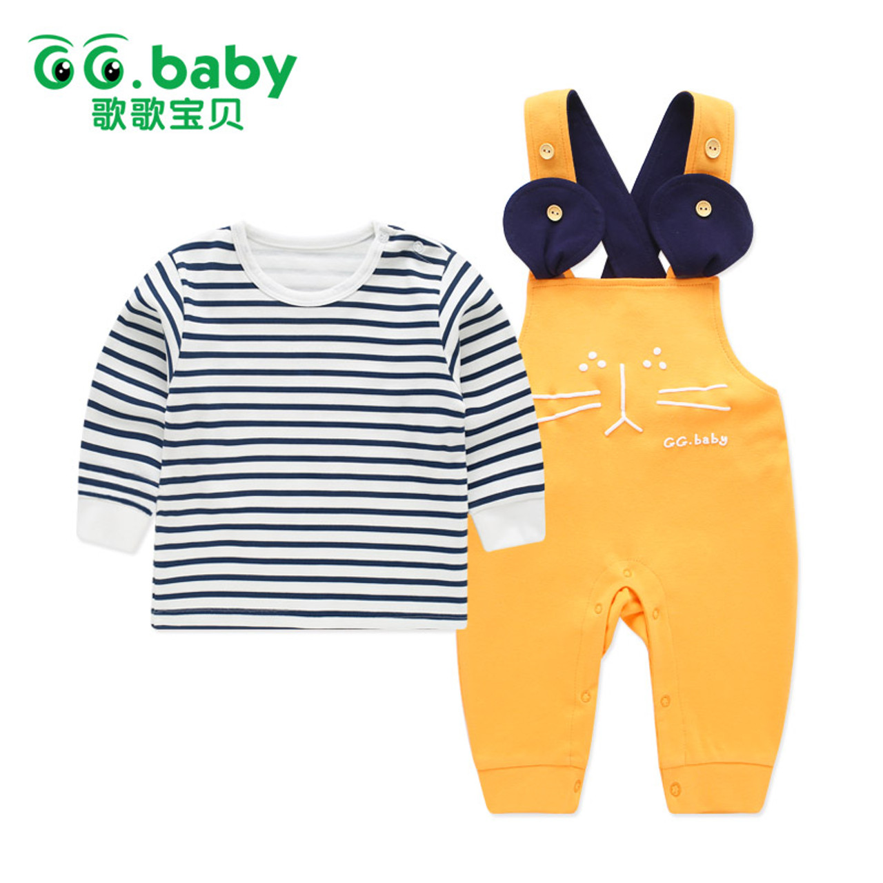 Newborn Baby Boy Clothes Gentleman Grey Striped Shirt Plus Overalls 3 to 24m New