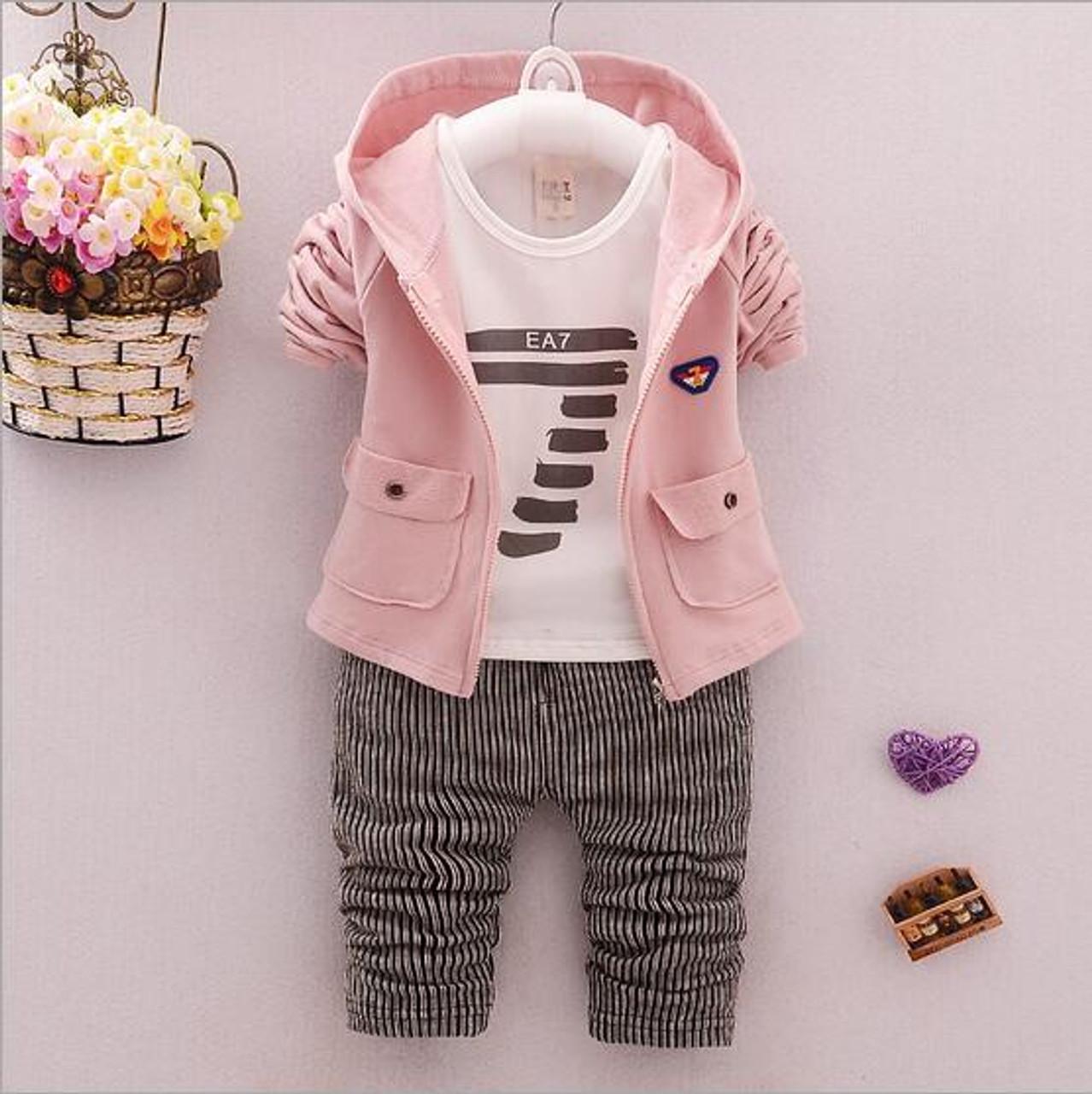 9b4d0584bd2b 3 pcs baby boy clothing set boys suit kids spring jacket infant ...
