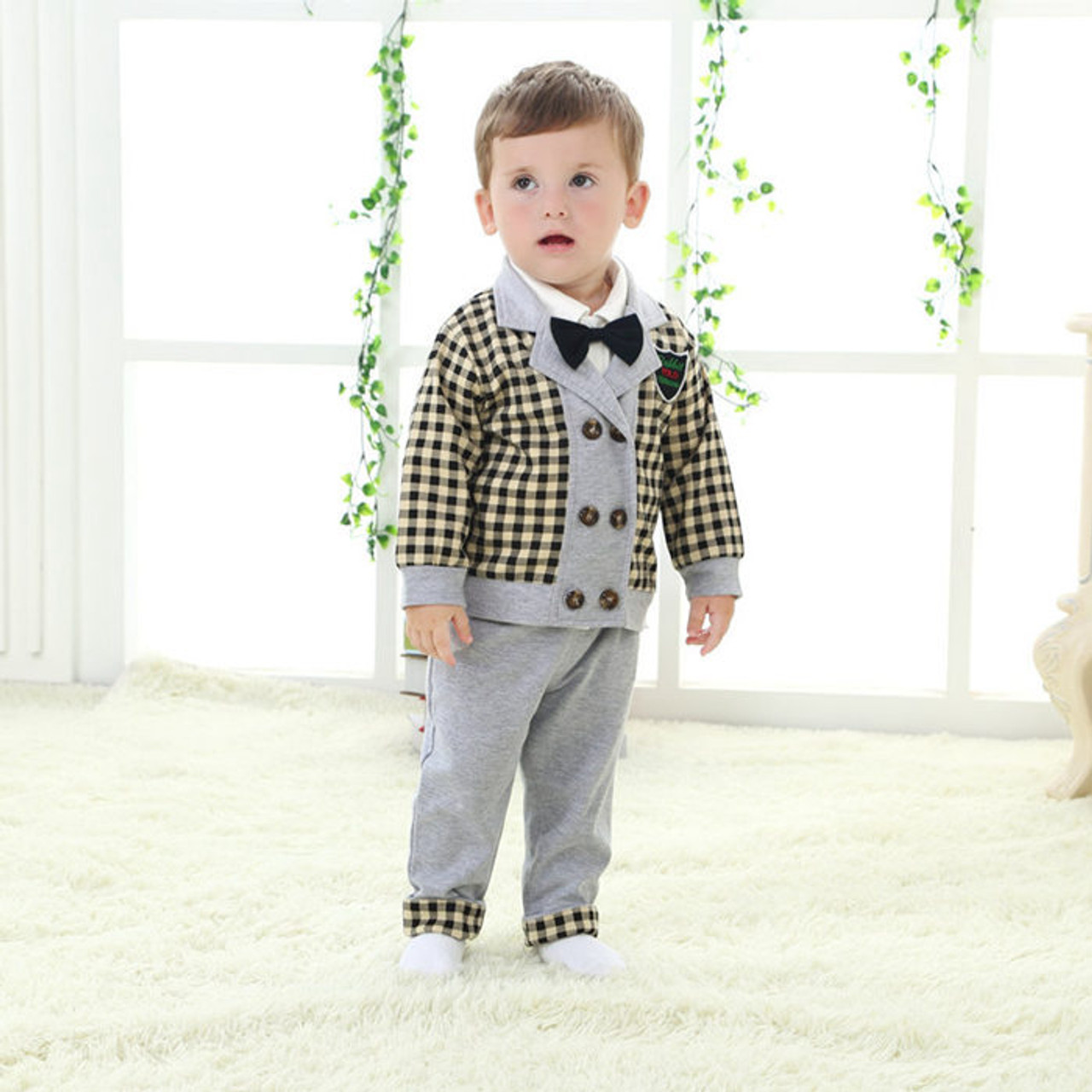 c060a2224 gentleman baby boy clothes wedding kids clothes coat+pants 2pcs set ...