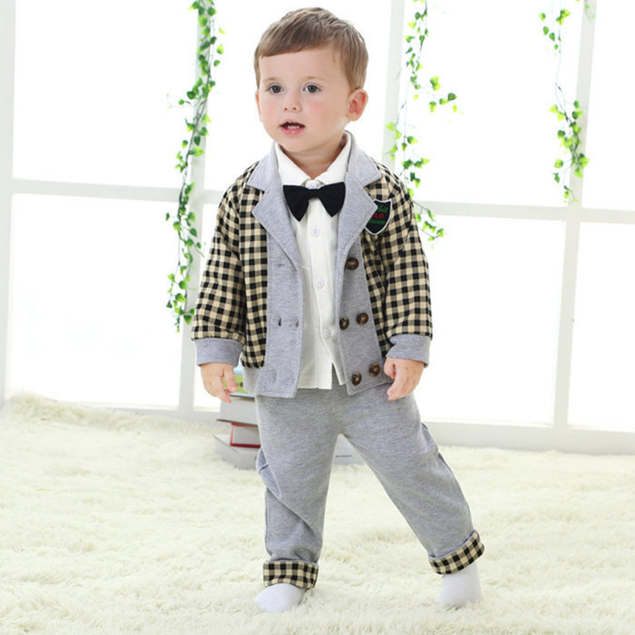 795e16a68992 gentleman baby boy clothes wedding kids clothes coat+pants 2pcs set ...