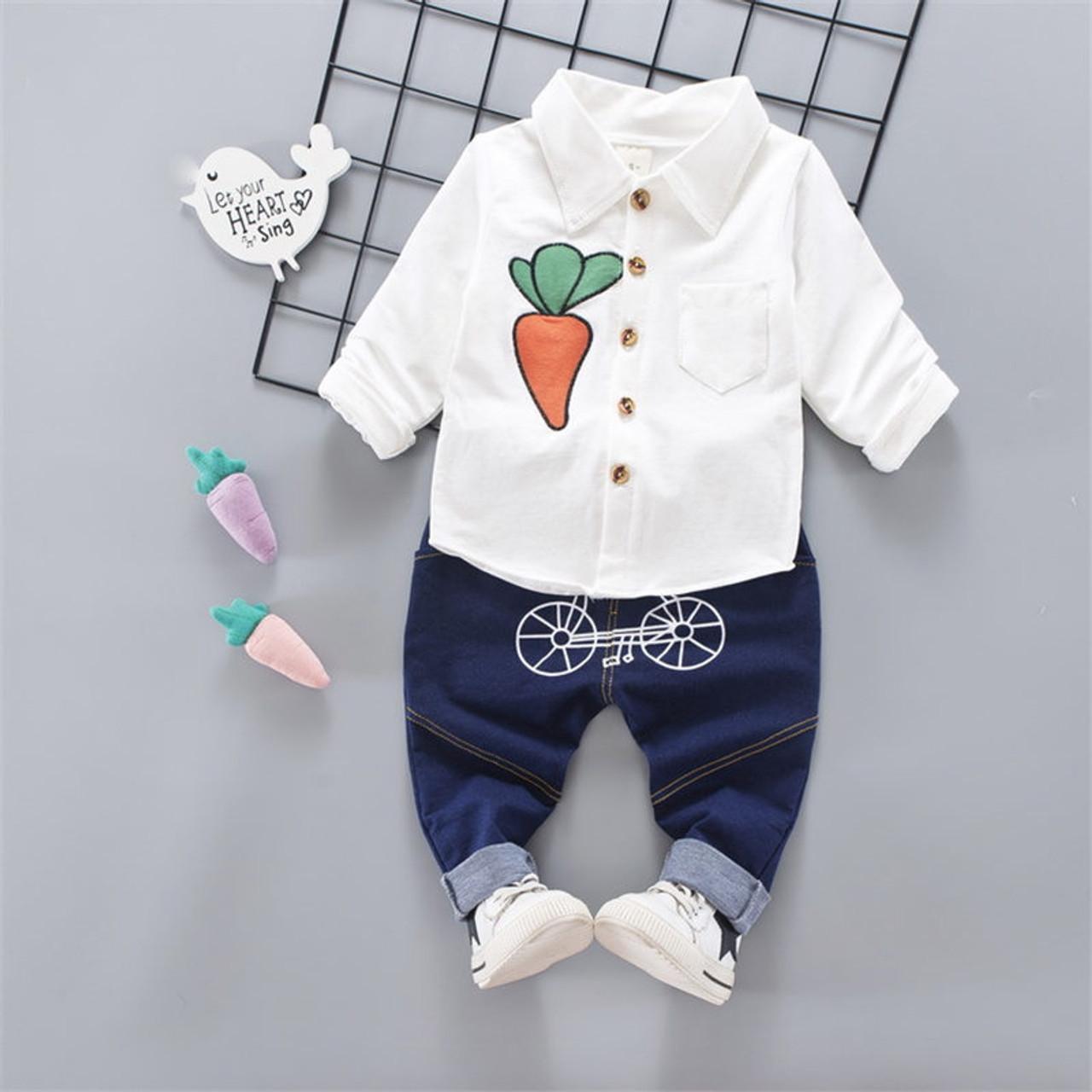 bae8437613d45 ... BibiCola baby boys clothing set pants + shirt children boys clothes sets  carrot pattern kids child ...