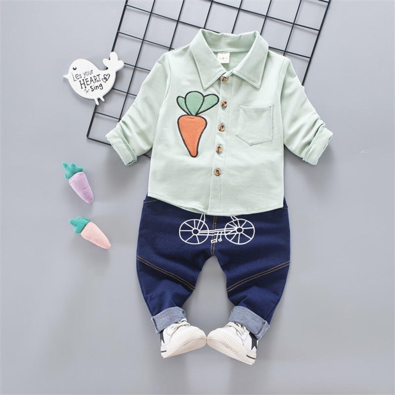BibiCola baby boys clothing set pants + shirt children boys clothes sets  carrot pattern kids child sports suits toddler sets - OnshopDeals.Com