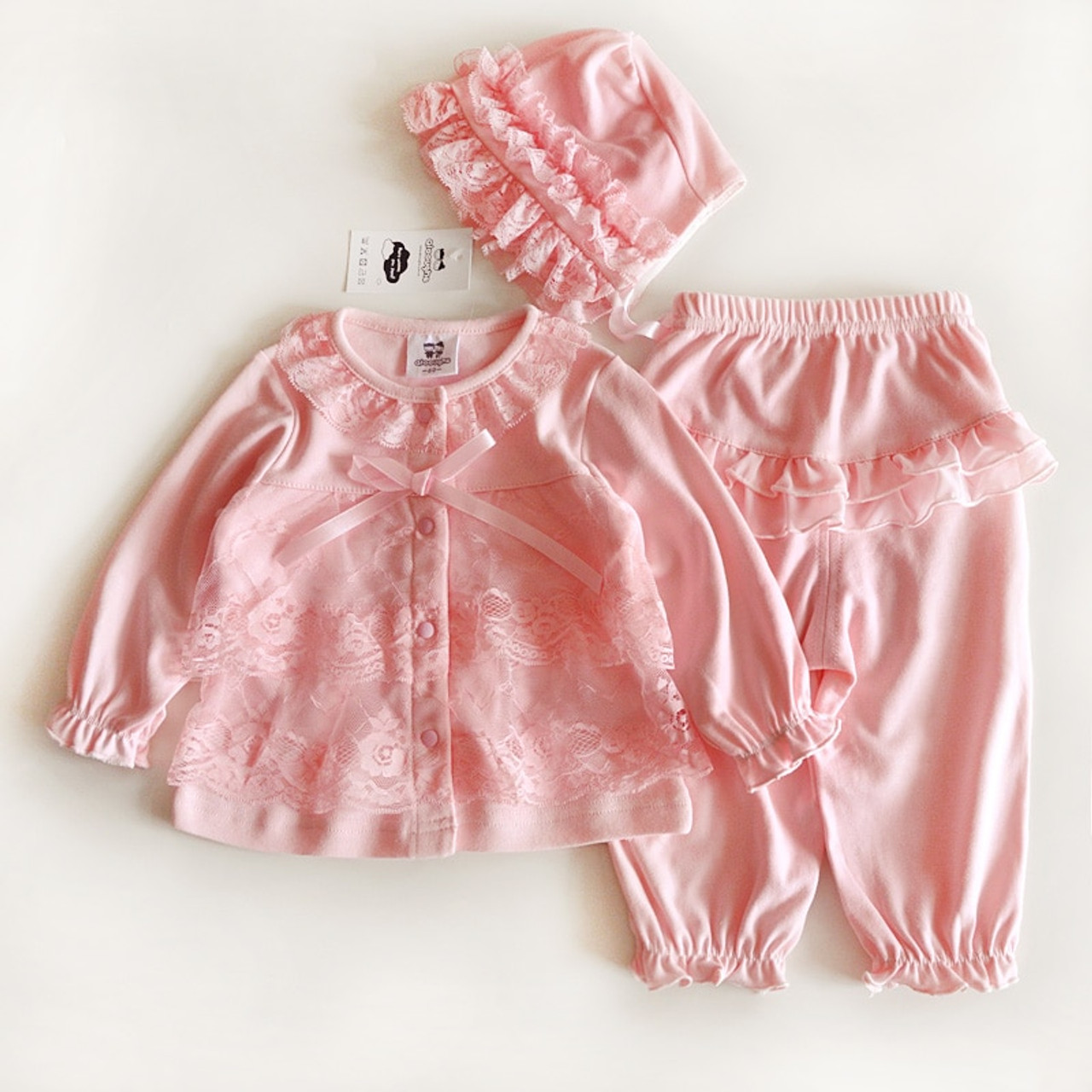 a49bdd593848 3 Pcs cute newborn baby girl clothes set 1st birthday 2017 new style ...