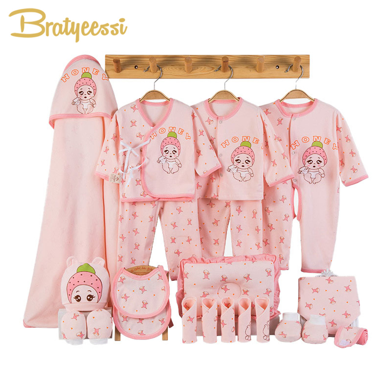 494e8210032aa0 Newborn Baby Clothes Soft Cotton Toddler Baby Boy Girl Clothes Set Cartoon Infant  Clothing New Born Gift Set 3 Colors - OnshopDeals.Com
