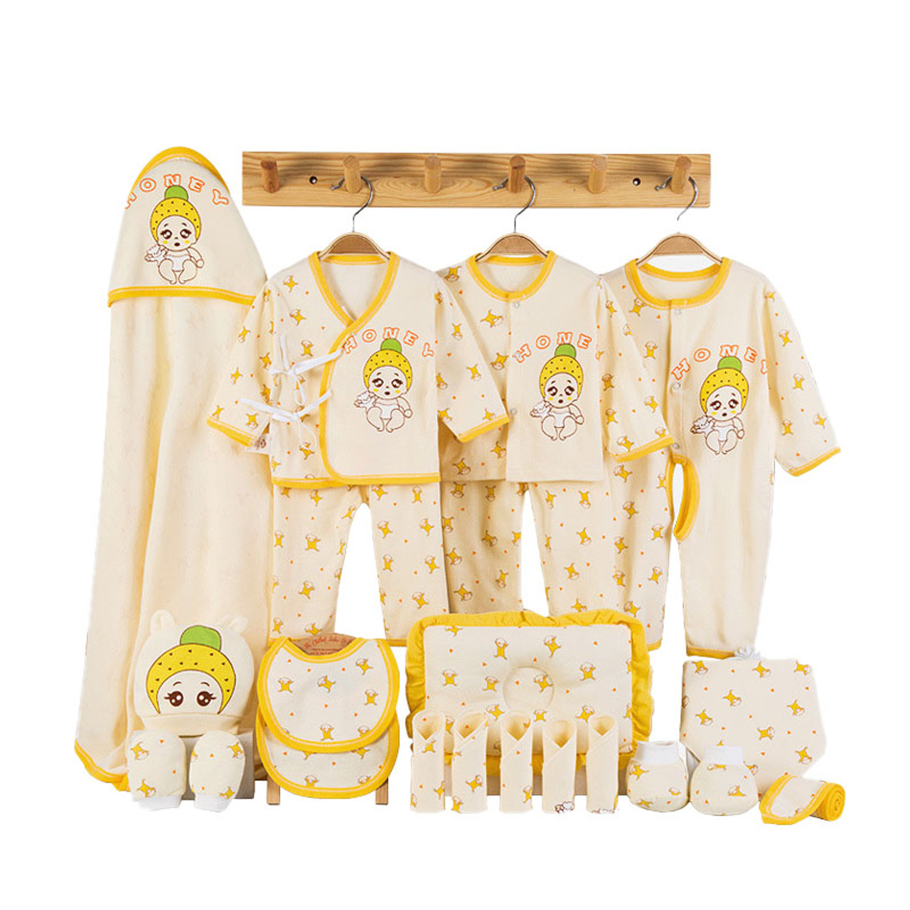 Newborn Baby Clothes Soft Cotton Toddler Baby Boy Girl Clothes Set Cartoon  Infant Clothing New Born Gift Set 8 Colors