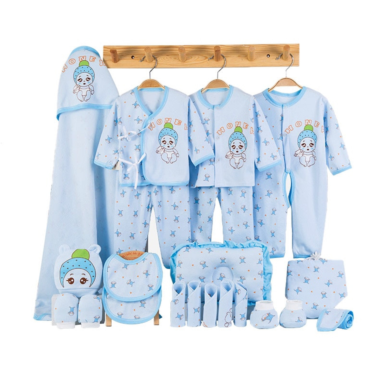 Newborn Baby Clothes Soft Cotton Toddler Baby Boy Girl Clothes Set Cartoon  Infant Clothing New Born Gift Set 5 Colors