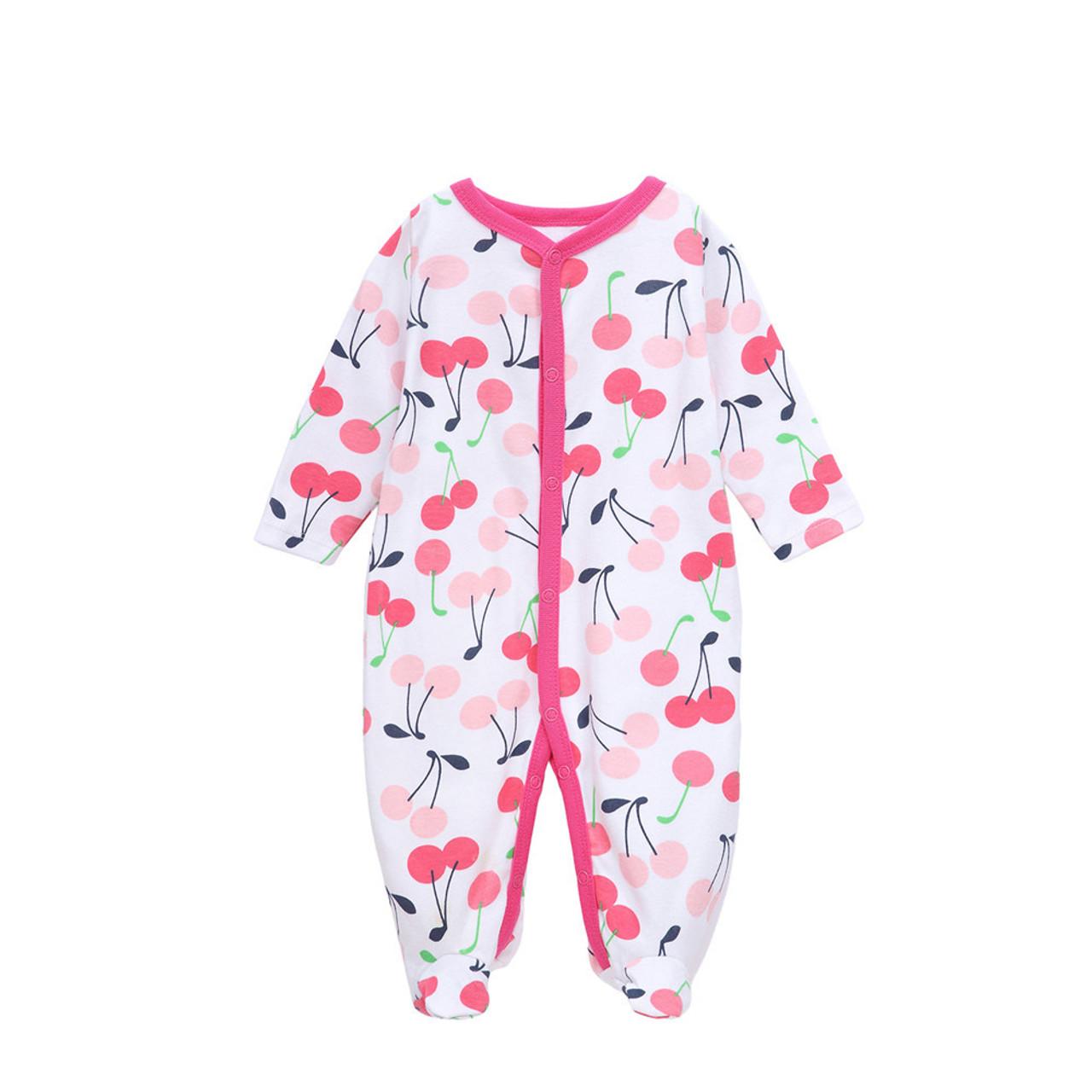 a726c325c2f0 6Pcs Newborn Baby Girl Romper Winter Baby Boy Jumpsuit 100% Cotton ...