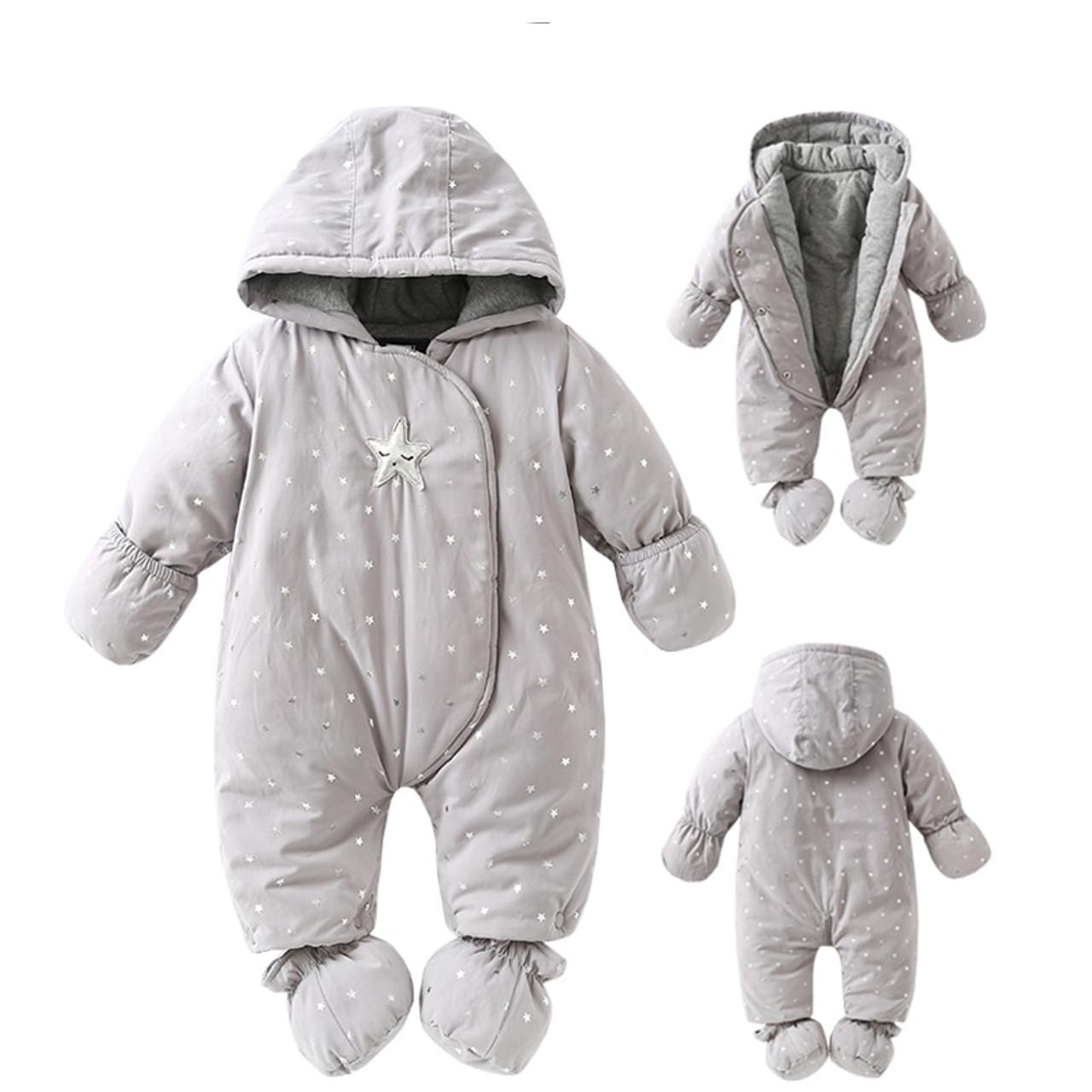 ac19e2992d04 Newborn baby romper Winter 2018 baby girl boy Snowsuit warm baby ...