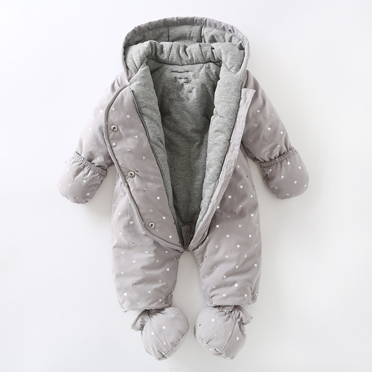 5bd9ce086a22 Newborn baby romper Winter 2018 baby girl boy Snowsuit warm baby ...