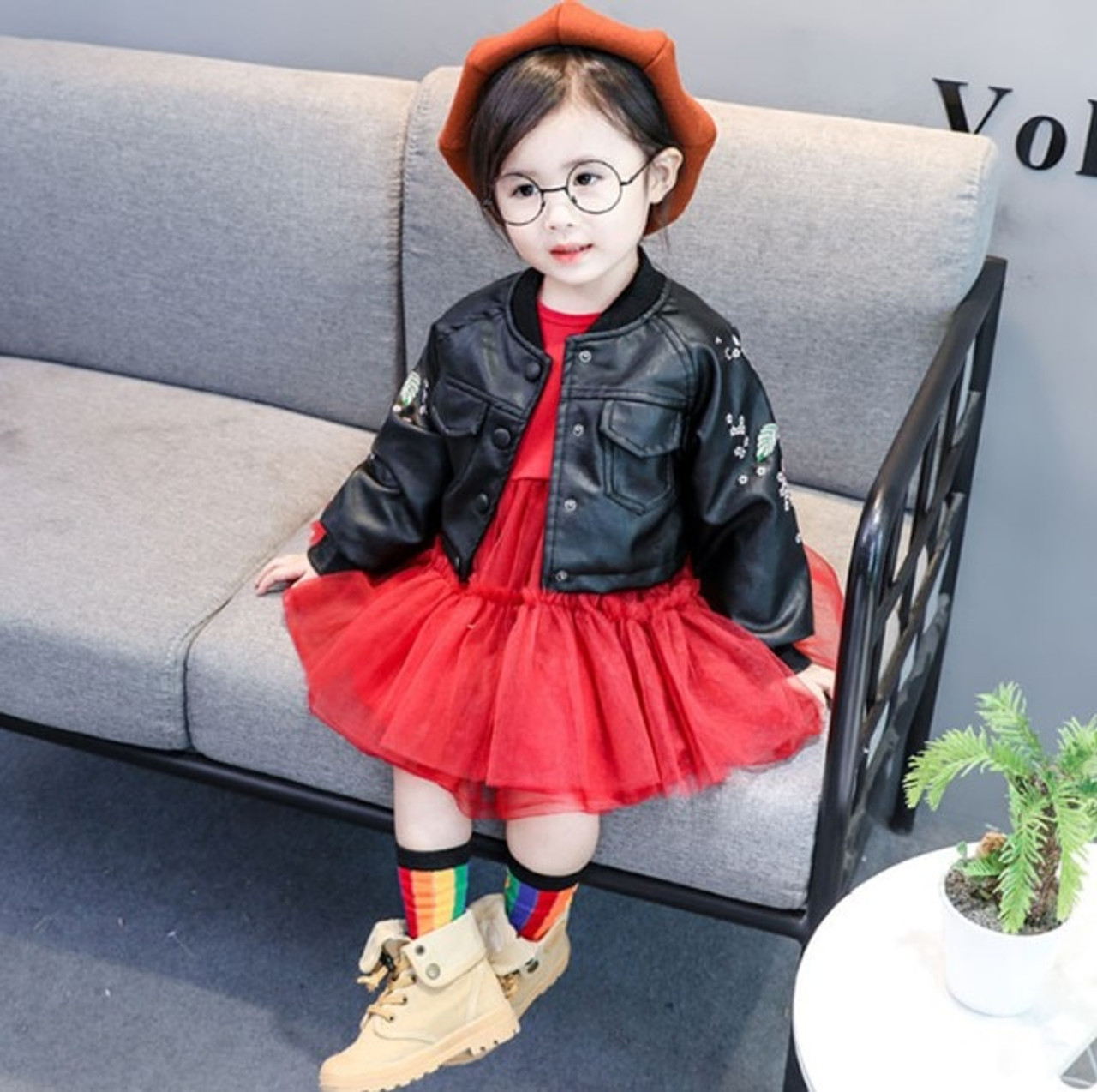 583885beef3e Fashion Baby Girl Dress Spring Autumn Baby Dress for Girls and PU ...