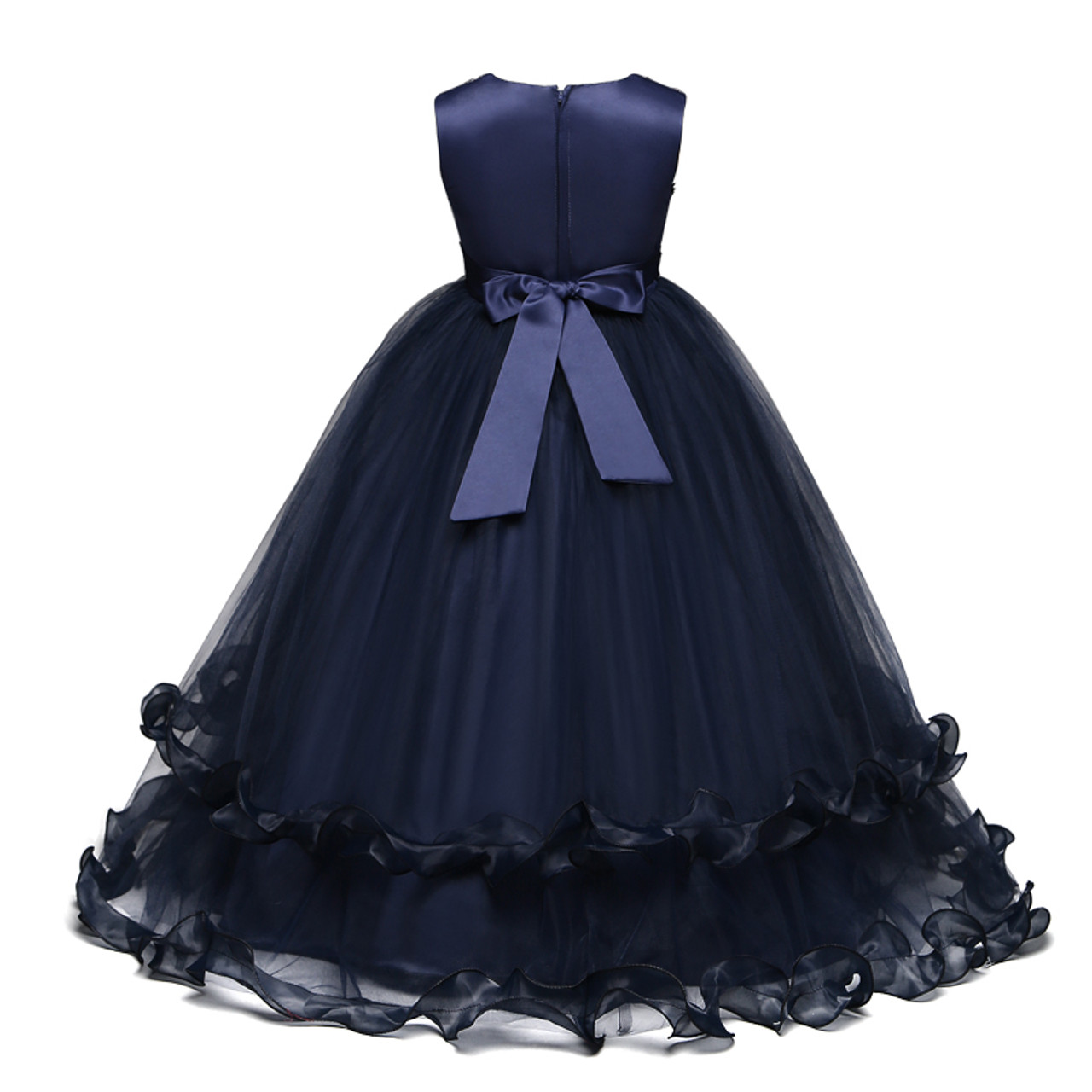 304bfd3e7e Flower Girl Dress Children Graduation Gowns Ceremony Long Dresses Junior  Summer Party Clothing Kids Birthday Wedding Frock 6-14T