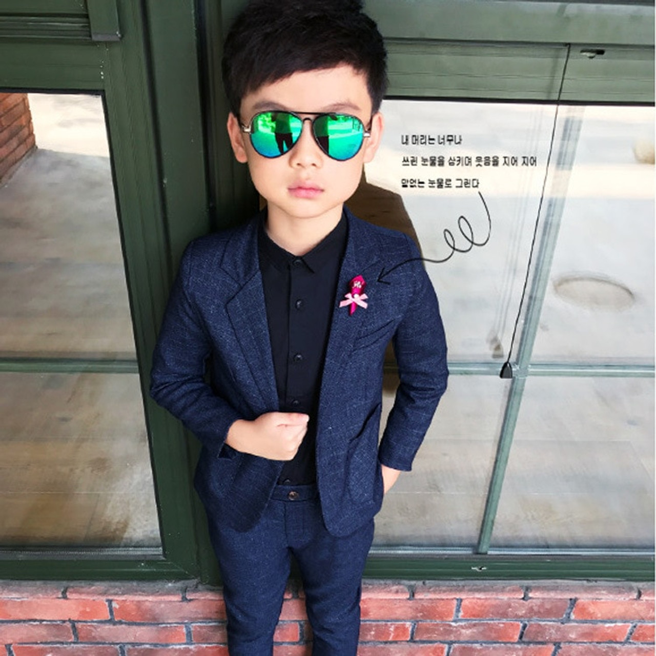 94dadcc073c64 ... Kids Blazer Baby Boys Suit Jackets 2018 Spring Cotton Coat Pants 2  Piece Boy Suits Formal ...