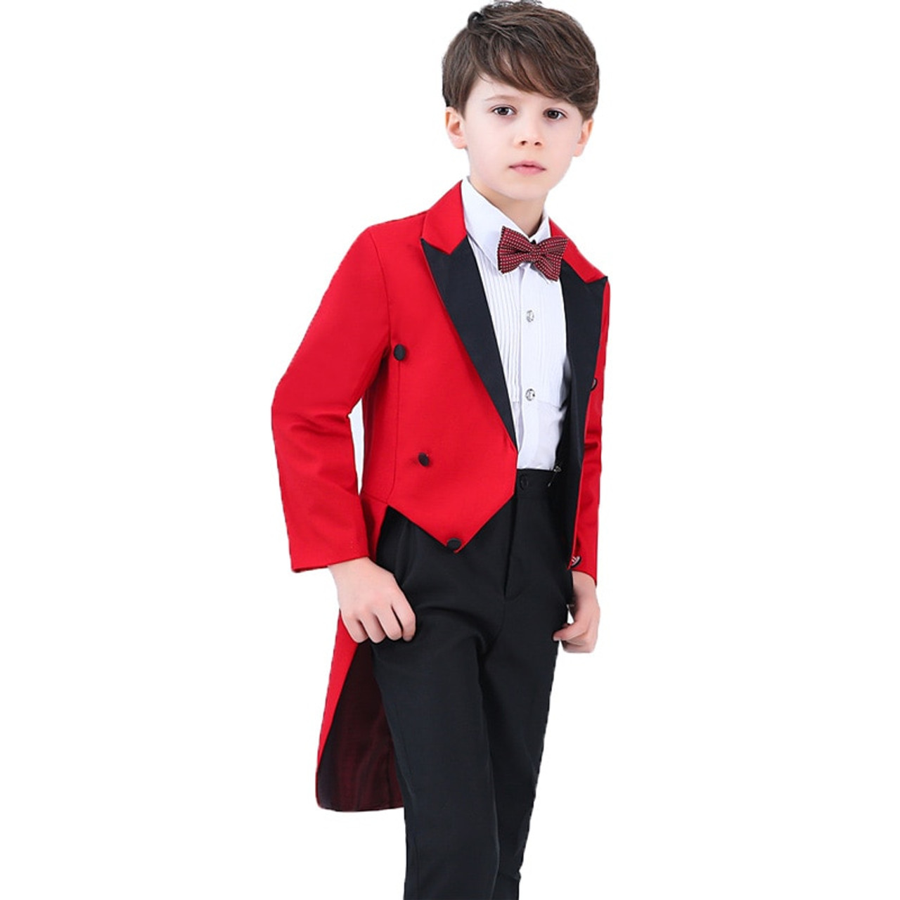 fee23439ac83e ... Boys Formal Dress Tuxedo Piano Performance Costume Flower Boys Birthday Wedding  Suits 5pcs Jacket + Shirt ...