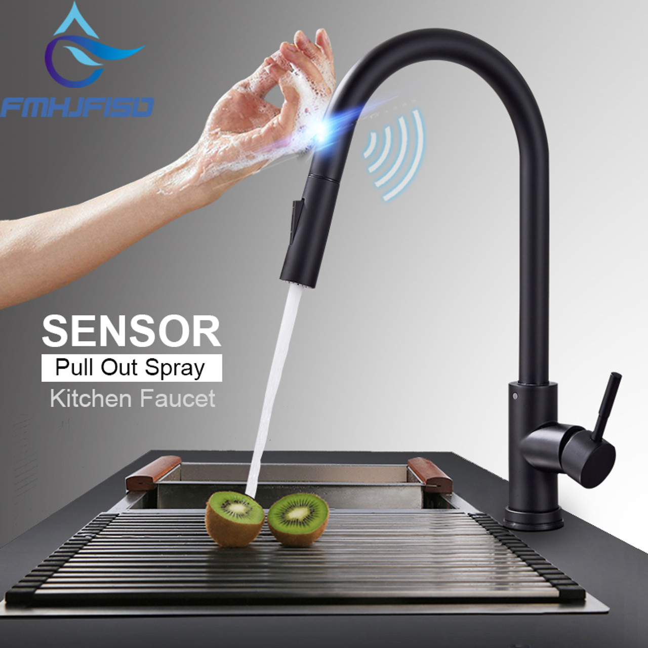 stainless steel sensor kitchen faucets black touch inductive rh onshopdeals com