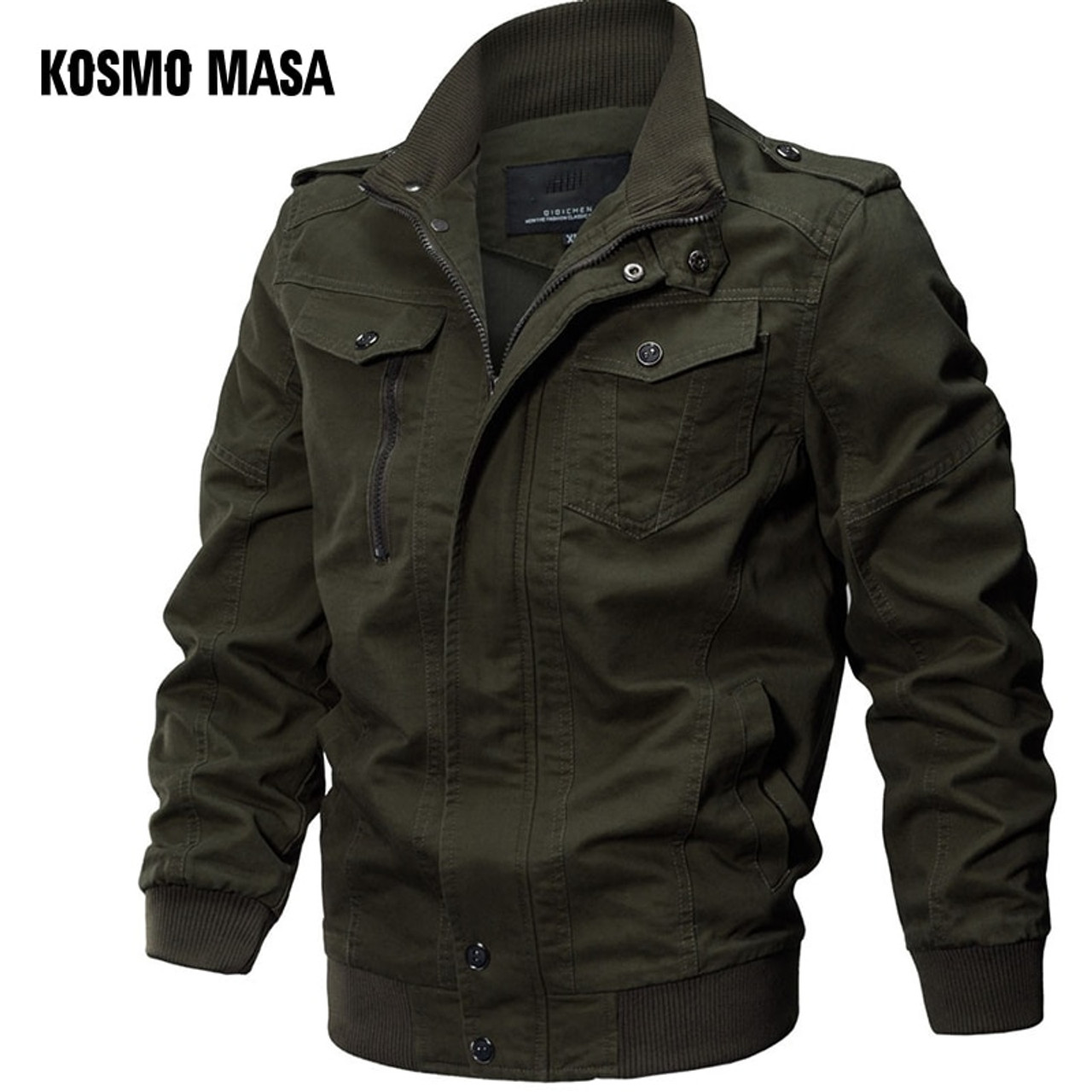 ef6609c3 KOSMO MASA Bomber Jacket Men Autumn Winter 2018 Military Mens Jackets And  Coats Black Windbreaker Jacket for Men Outwear MJ0074