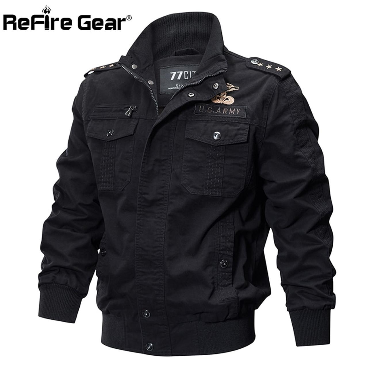 Mens Corduroy Coat Casual Military Pilot Jacket Bomber Tactical Flight Outwear