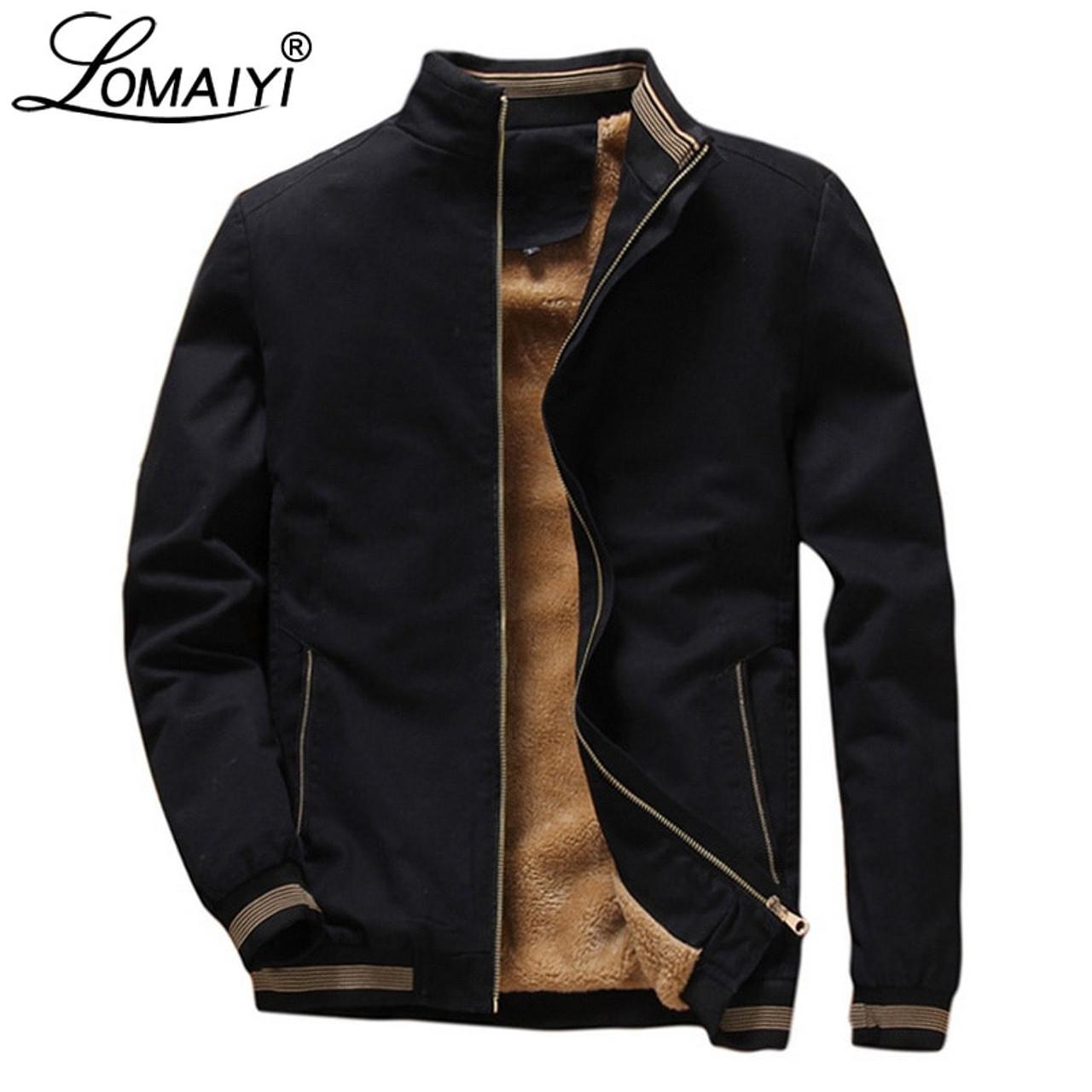 LOMAIYI Men's Winter Pure Cotton Jackets Men 2018 Casual Fleece Lining Coats  4XL Mens Warm Windbreaker Male Jacket Clothes BM260 - OnshopDeals.Com