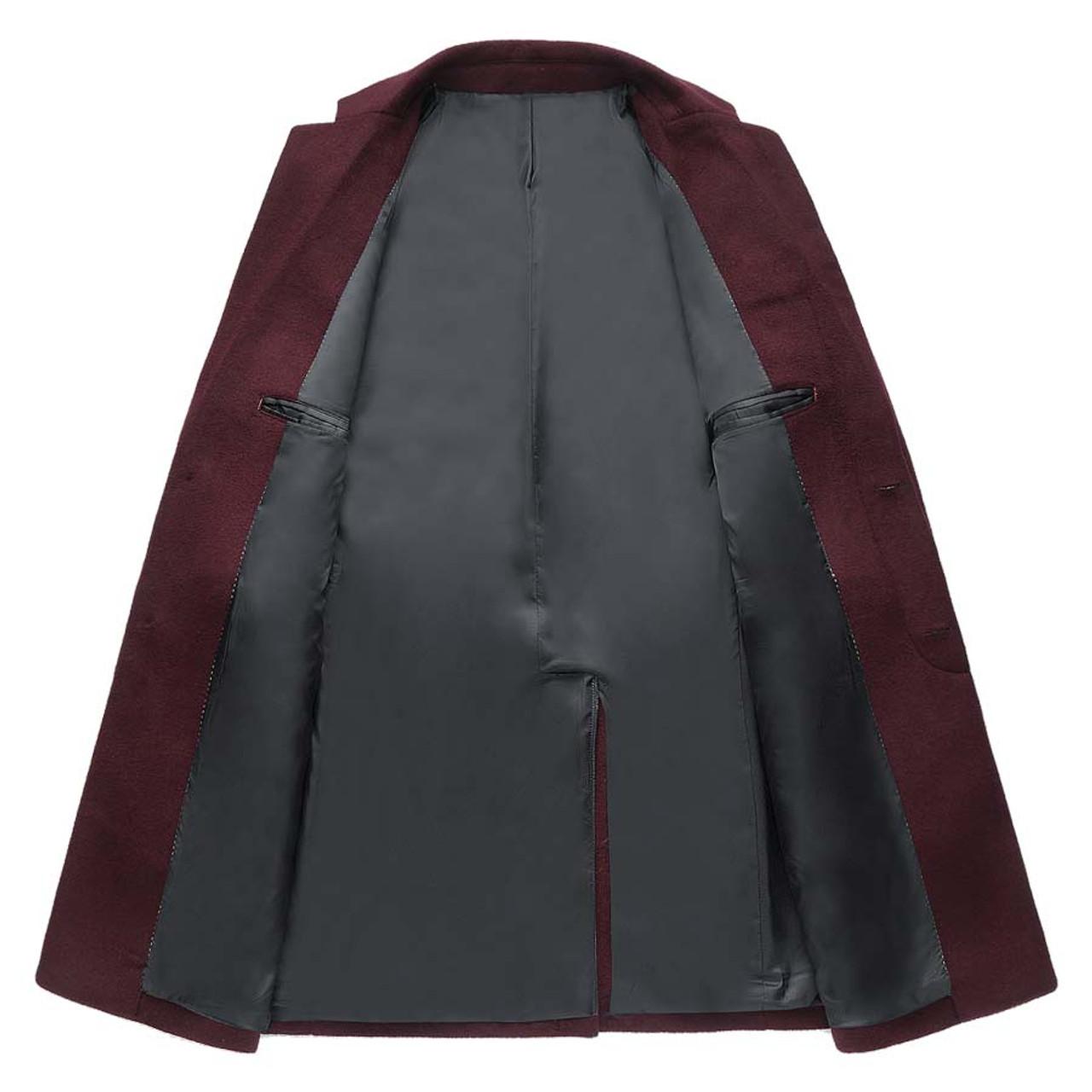 good looking 2020 best deals on Mwxsd brand winter casual Wool coat for men Middle long woolen topcoat  jacket male warm Overcoat Single Breasted wram outwear