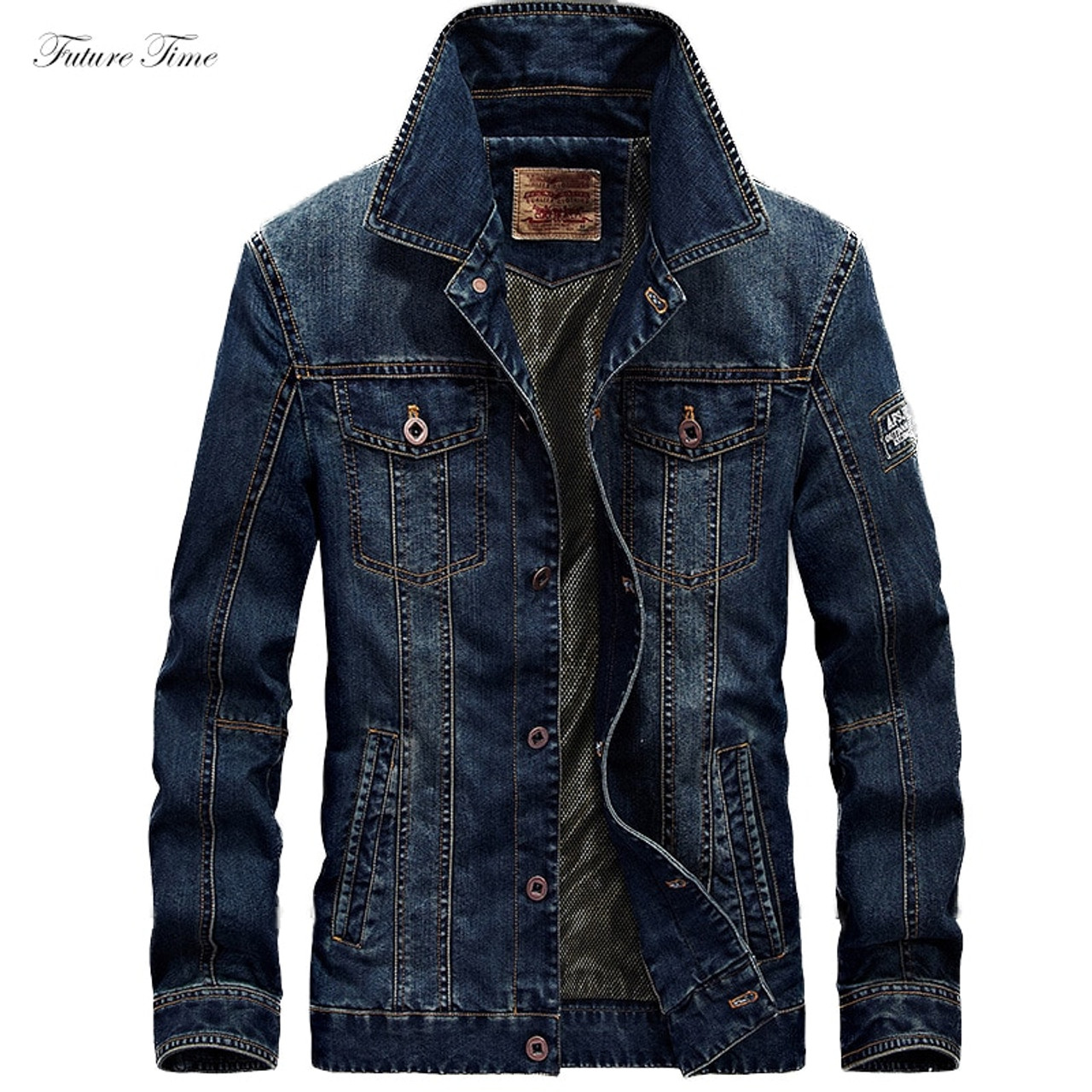 1746bf45c37 Men Jacket Denim Jeans Jackets and Coats for Autumn Casual Slim Brand  Clothing Cowboy Jeans Jacket ...