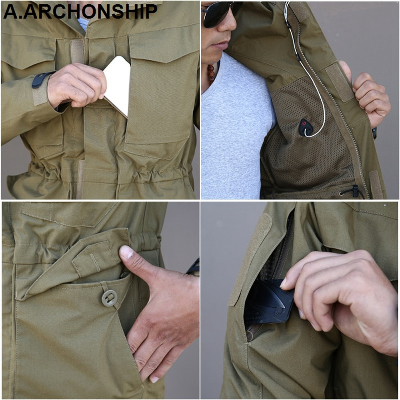 6f0de6ad575 ... M65 UK US Army Clothes Windbreaker Military Field Jackets Mens Winter Autumn  Waterproof Flight Pilot ...
