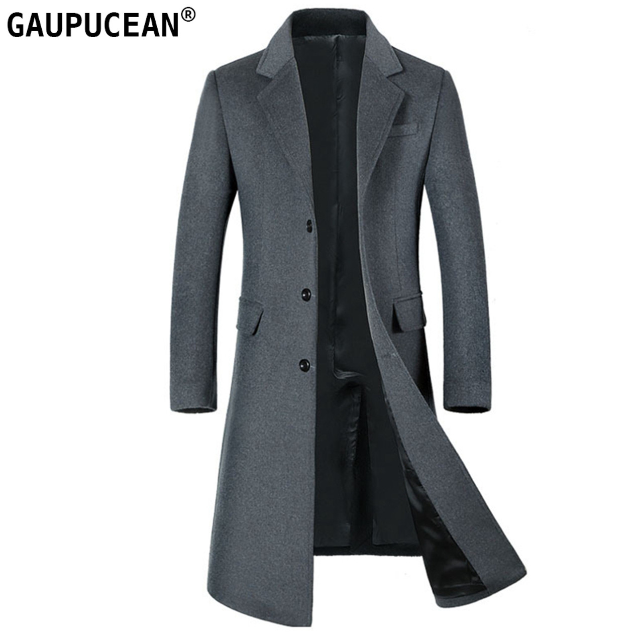 908833f83 Man Wool Jacket Extra Long High Quality Formal Business Grey Single ...