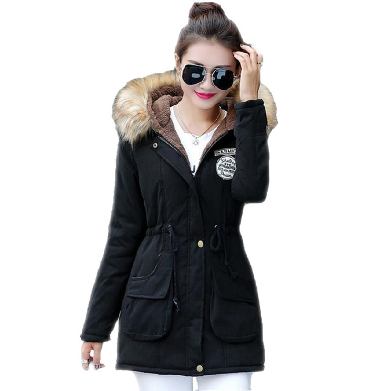 bf2957a63e3 ... New Long Parkas Female Womens Winter Jacket Coat Thick Cotton Warm  Jacket Womens Outwear Parkas Plus ...