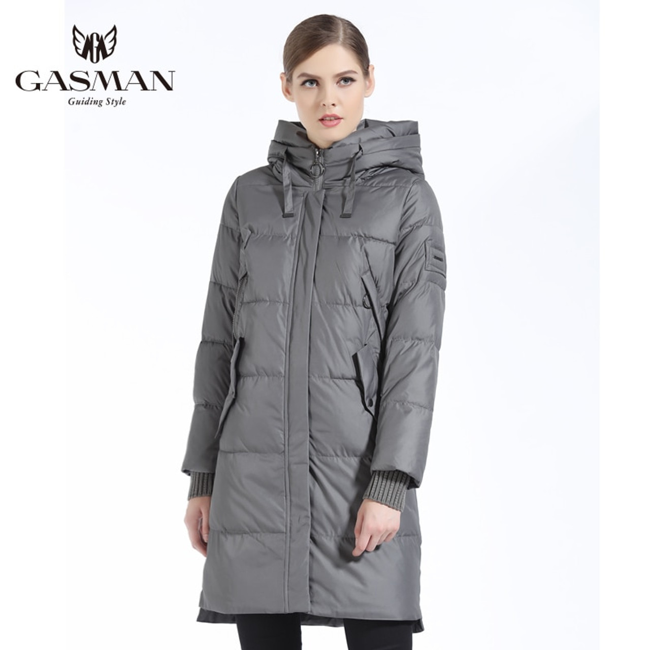 363ae432a GASMAN 2018 Winter Women Bio Down Parka Brand Female Long Winter Coat For  Women Hooded Down Fashion Jacket New Winter Collection