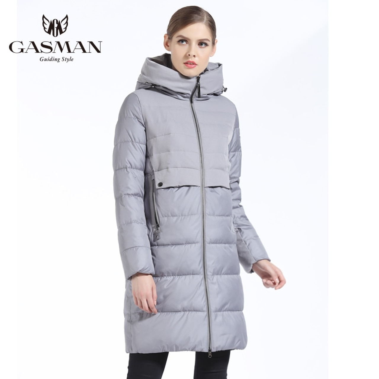 7c660354d GASMAN 2018 Brand Women Winter Jacket And Coat Slim Long Women Thick Down  Parka Hooded Women's Coat Bio Down Jacket For Women