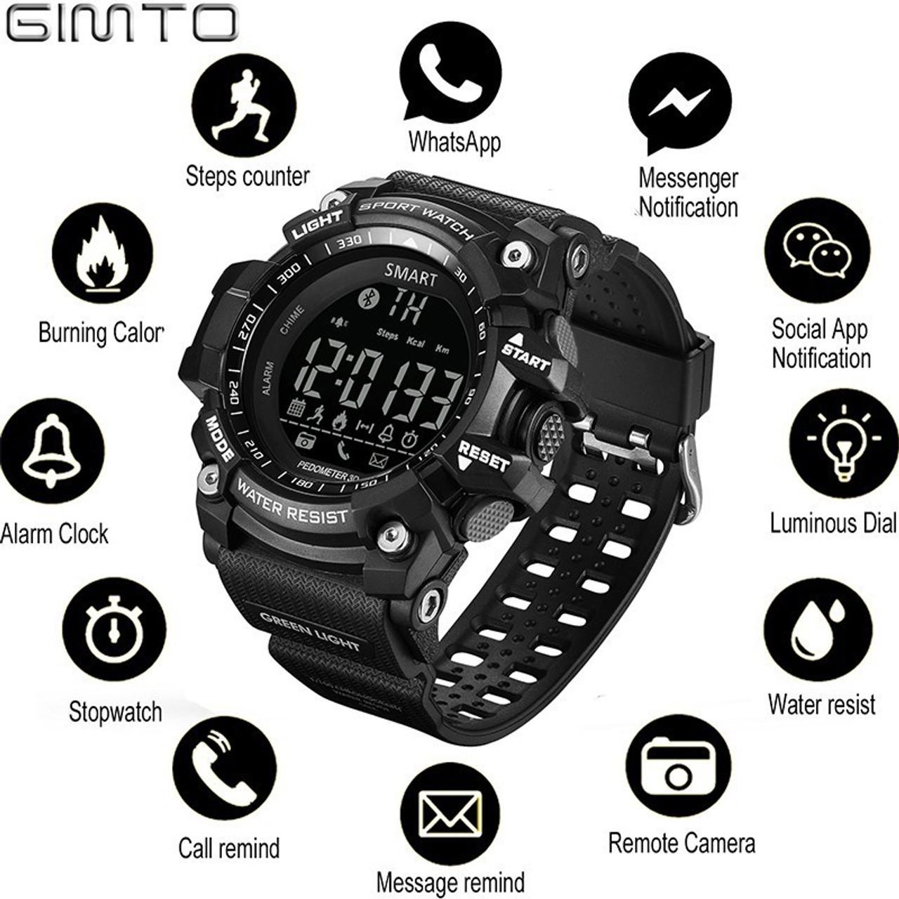 Watches Nice Digital Smart Watch Men Fashion Communication Function Digital Wristwatch Led Display Military Sport Watch Waterproof Smartwatch Digital Watches