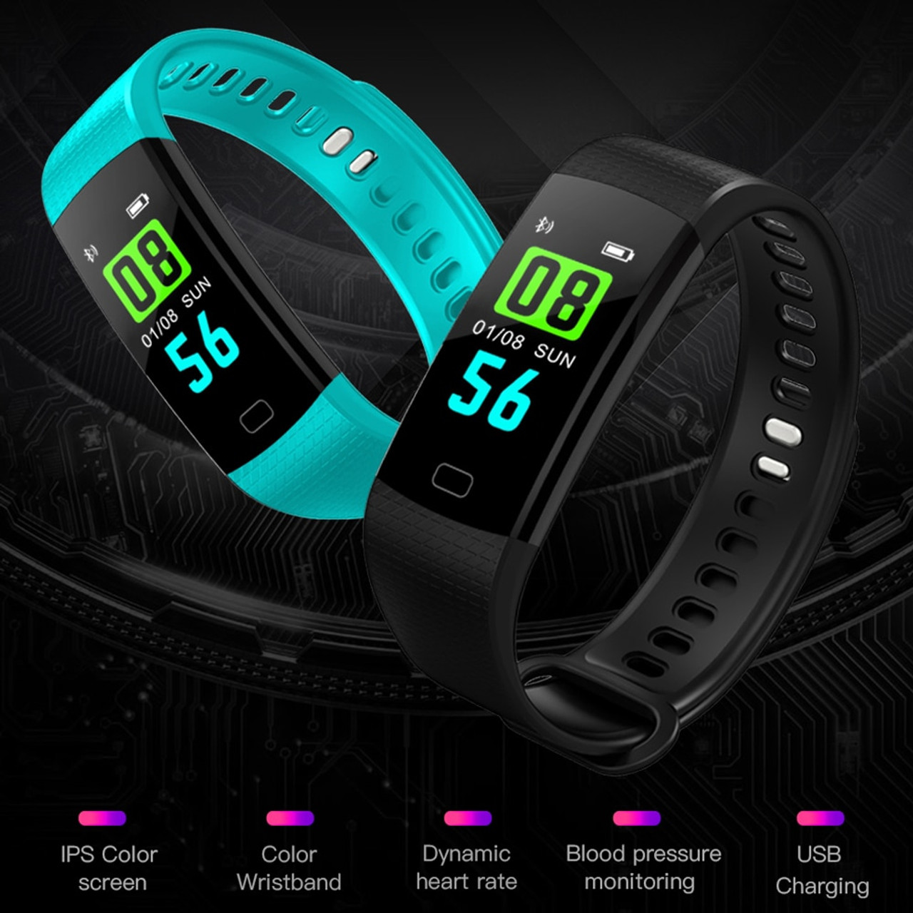 Men's Watches Fashion Style Bluetooth Sport Smart Bracelet Women Men Children Digital Watch Waterproof Clock Heart Rate Blood Pressure For Android Ios