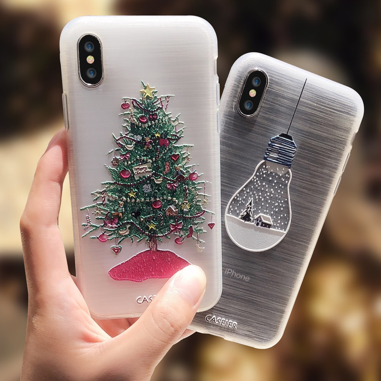 Christmas Phone Case Iphone Xr.Caseier Girly Christmas Phone Case For Iphone 5 Se 6 6s 7 8 Plus X Cute Emboss Soft Tpu Covers For Iphone X Xs Max Xr 5s 7 Plus