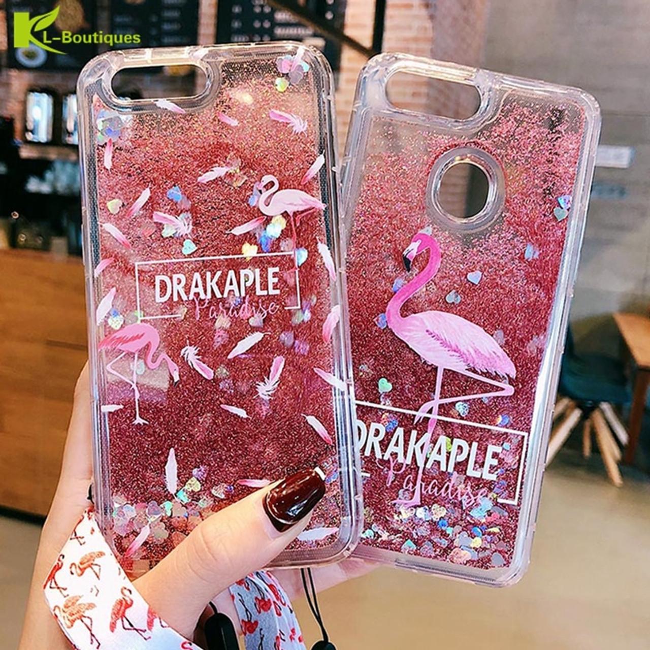 finest selection 1489b d33ba Coque sFor Huawei Honor 9 Lite Glitter Liquid Quicksand Flamingo Phone Case  on for Fundas Huawei Honor 9 Lite Case Cover Pouzdro