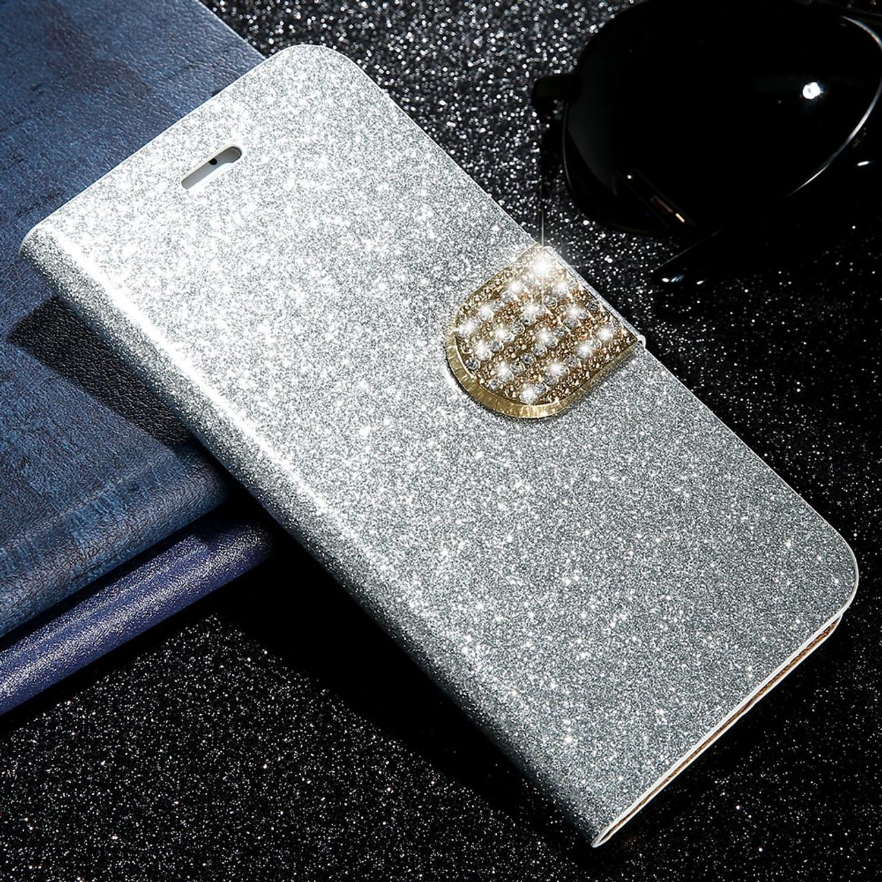 ... KISSCASE Bling Flip Wallet Phone Case For iPhone X 8 7 6 6s 7 Plus  Phone ... bd5dac668