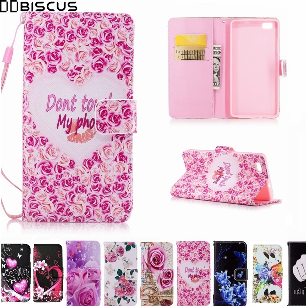 huge selection of 4f32b 2a589 Leather Flip Wallet Soft Silicone Case For Huawei P8 Lite P8Lite Cover  ALE-L21 ALE-L23 ALE-L04 ALE-L02 ALE L21 L04 L23 L02 Cases