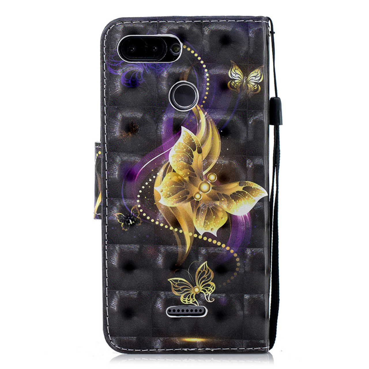 9ac179b2e3c ... Flip Leather Case on For Coque Xiaomi Redmi 6 Case 3D Painted Cover For  Fundas Xiaomi ...