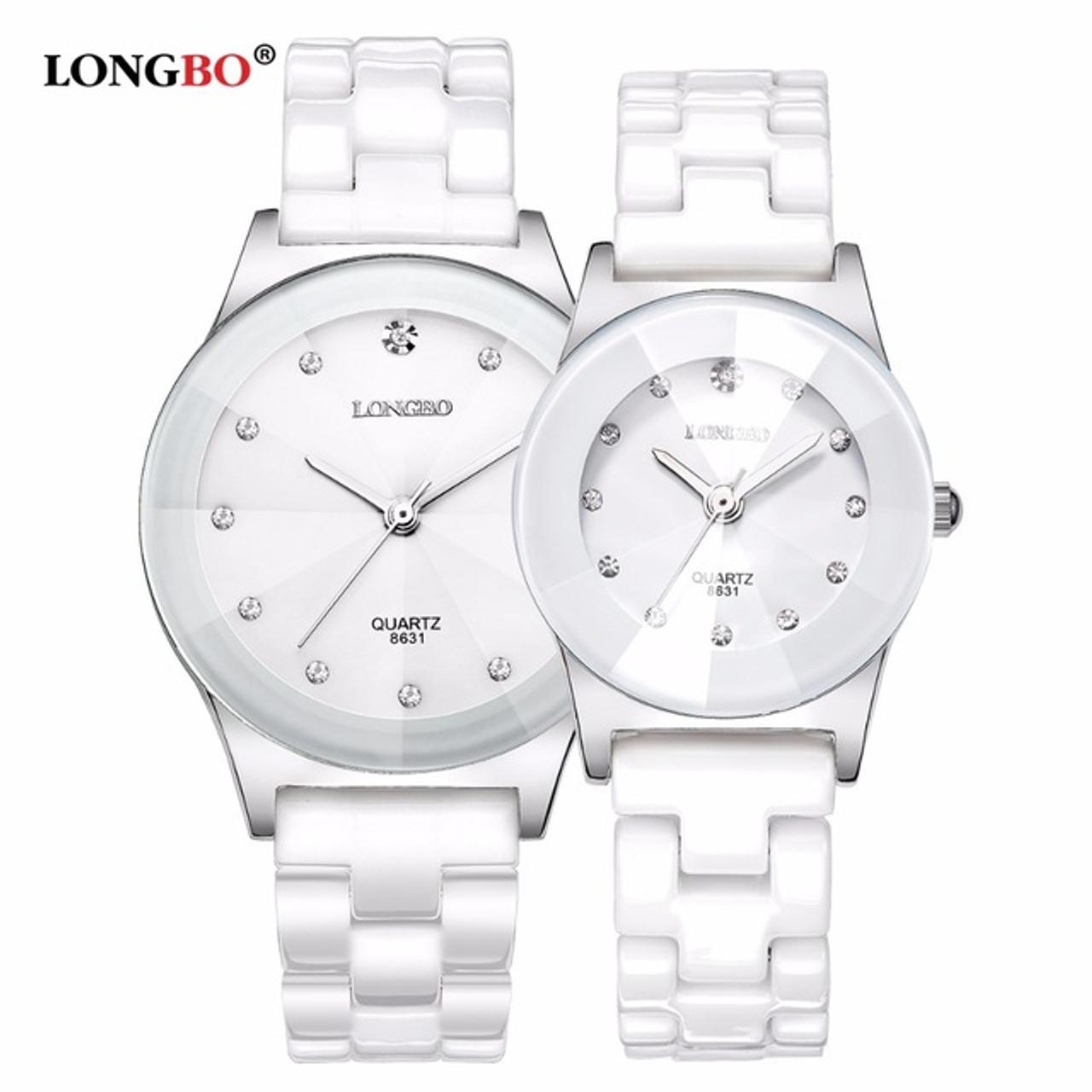 585891b4cf9 2018 LONGBO Top Brand Fashion Quartz White Ceramic Lovers Watches Luxury  Casual Unique Ladies Dress Wristwatch ...