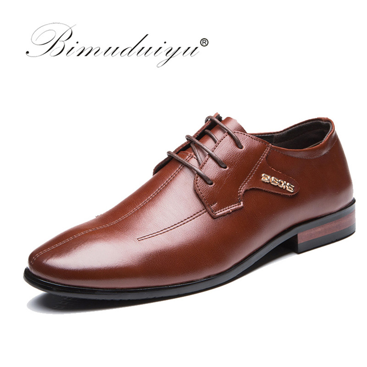 d69516736 Men s Dress Shoes Imported Business Formal Shoes High Quality Leather Shoes  Men Lace-Up Luxury ...