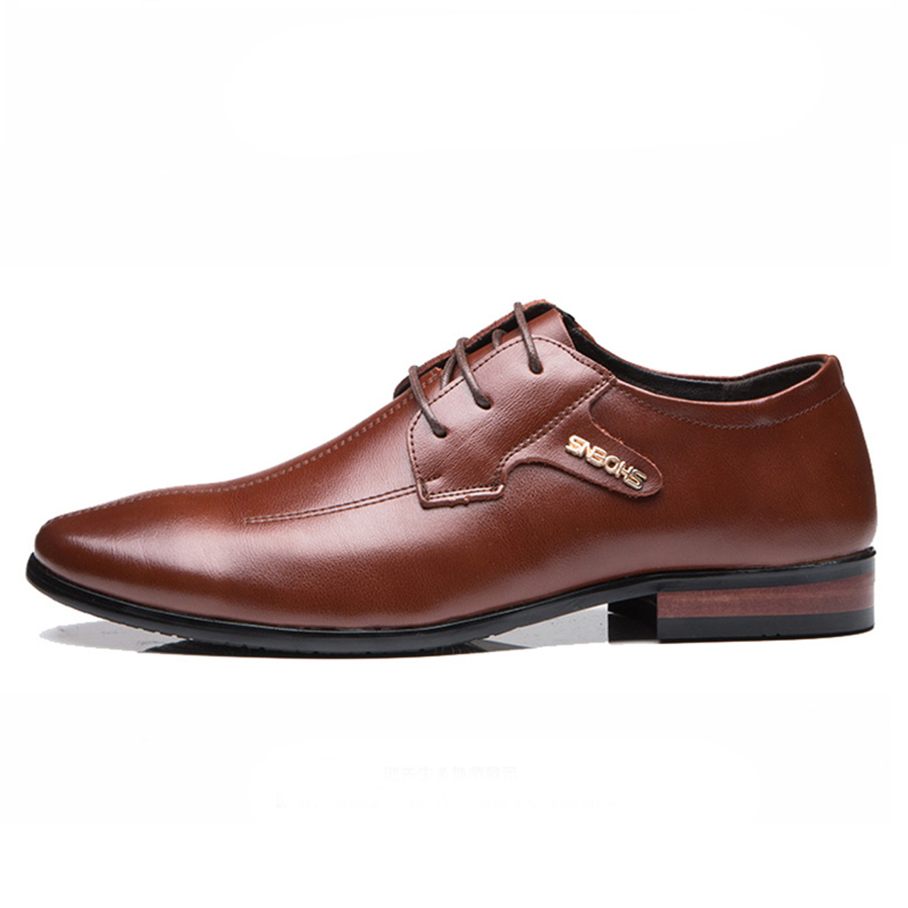 9e0fd4dc48bd Men's Dress Shoes Imported Business Formal Shoes High Quality Leather Shoes  Men Lace-Up Luxury Wedding Oxford Shoes