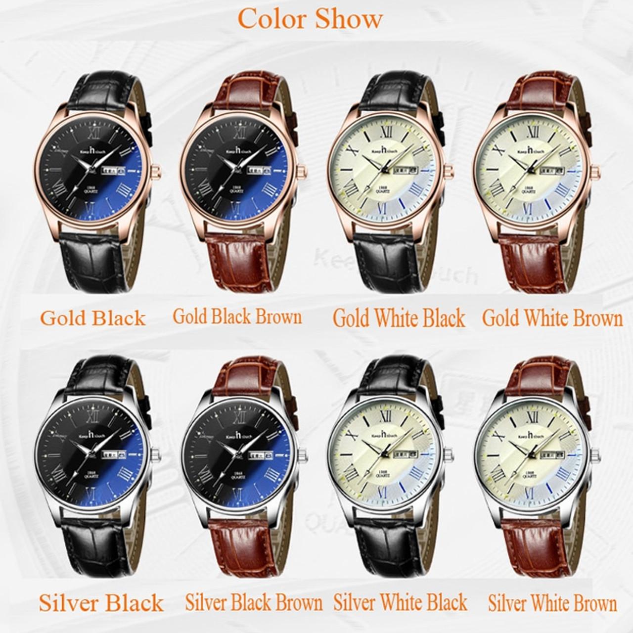 bdc390541 ... Casual Lovers Quartz Watch Relogio Feminino Men Women Gold Leather  Calendar Watches Luminous Luxury Ladies Fashion ...