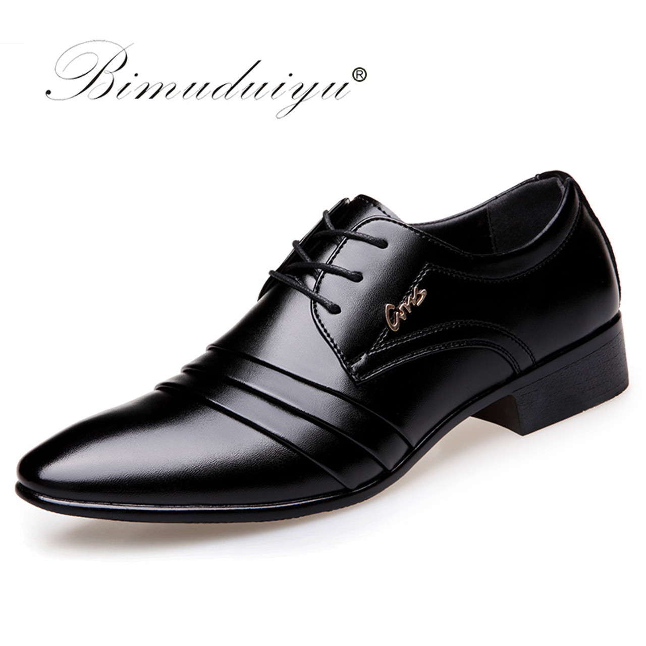 fff353dd3d8 Top Quality Men oxfords Dress Shoes Fashion Lace-up Wedding Black Shoes Mens  Pointed Toe ...