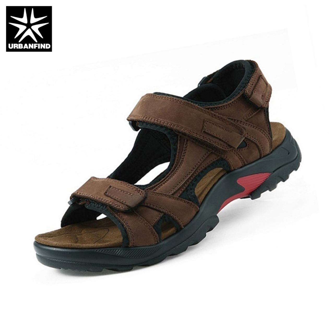 be92b1c13 Top quality sandal men sandals summer genuine leather sandals men outdoor  shoes men leather sandals plus ...